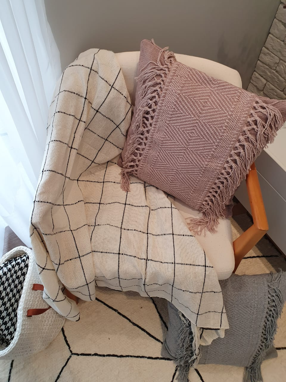 Manta para Sofa Grid