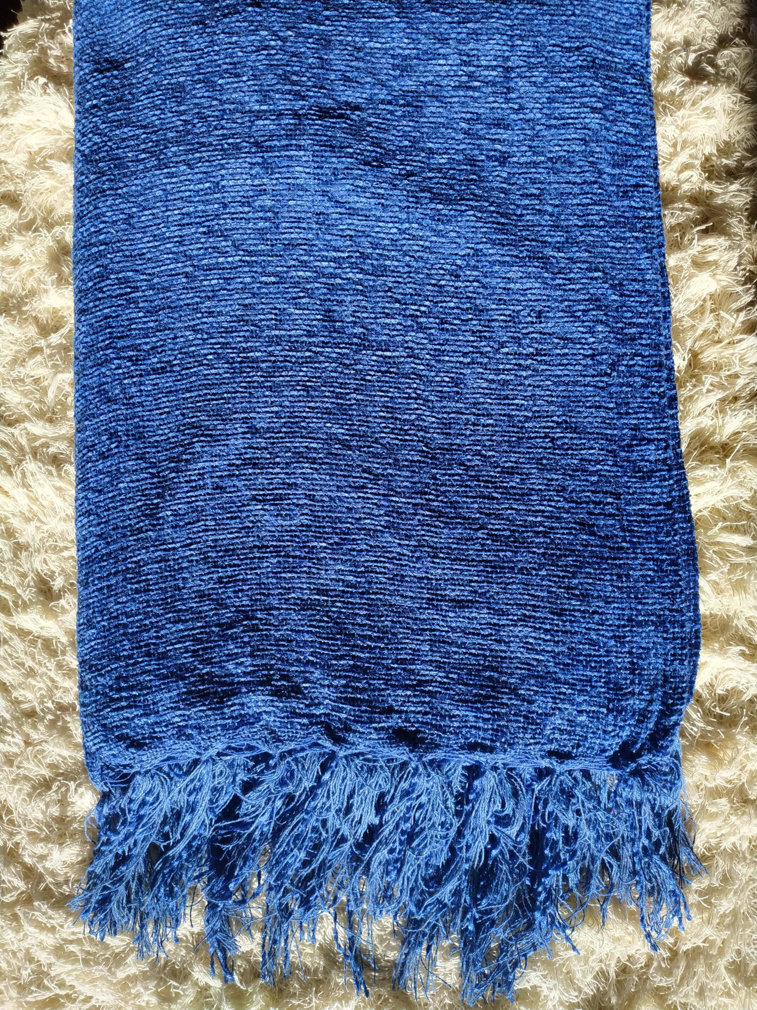 Manta Para Sofá de Chenille Azul Turquesa
