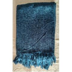 Manta para sofá em Chenille Azul Petróleo