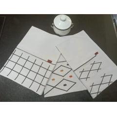 Kit Panos de Prato Geométrico