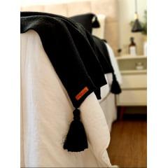 Peseira com Porta Travesseiro - Cor: Preto